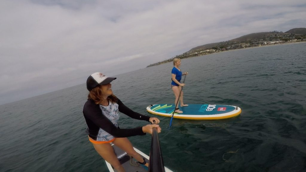 shot of the author doing stand-up paddle boarding